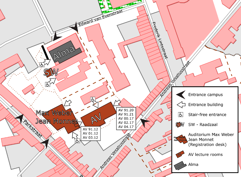 map of the campus; Data based on OpenStreetMap. © OpenStreetMap contributors.